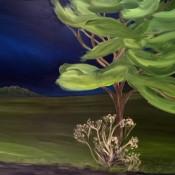 Roadside tree and weed